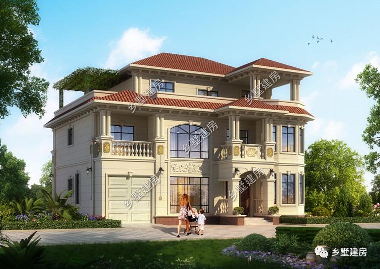 14x14米的欧式别墅,精致不俗,打造高颜值的实力雅居!
