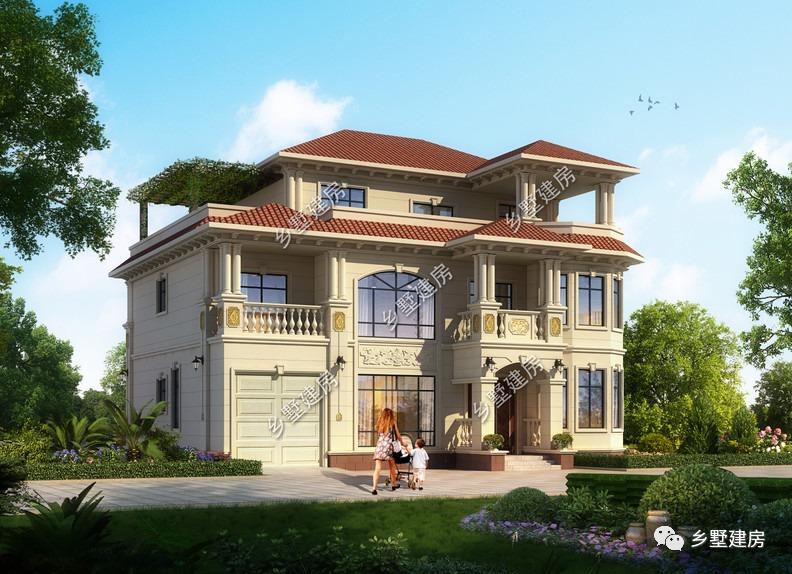 15x14米的三层别墅,布局完美,堪称乡村别墅的典范之作!