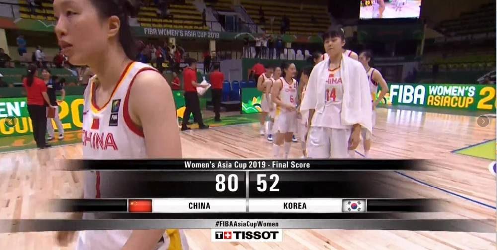 女篮亚洲杯- 韩旭17+5 中国女篮28分狂胜韩国 将与日本争冠