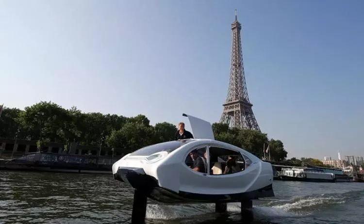 純電動系統,服役2024巴黎奧運會!法國水上出租車首試:成本超150萬
