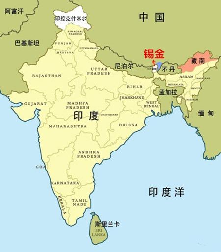 中国地图上消失的邻国,因遭印度侵略宣布归属中国,3小时后被灭