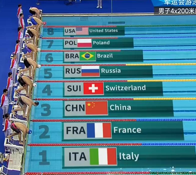 观众太热情,军运会游泳比赛出状况,裁判裁决结果出来了