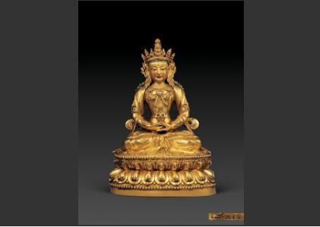明代铜鎏金佛像:北京翰海成交价格