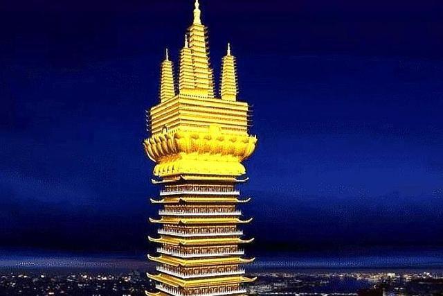 上海在建一座寺廟︰寺廟塔高將近173.2米,還被稱為全球第一高寺