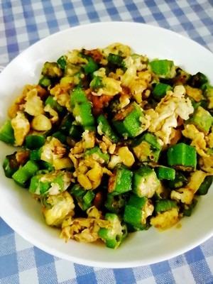 家常雞蛋菜譜,秋葵炒雞蛋,簡單美味營養,超級下飯,瞬間光盤