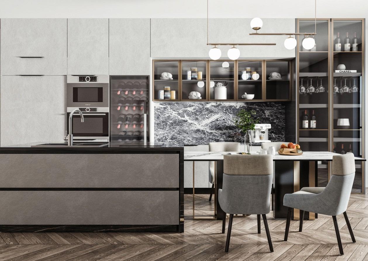 装修知识:家装市场大变岛台成为厨房标配,很多业主都这样做!