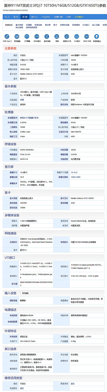 围观!八款6000至七千元搭载GTX1650Ti的i7笔记本,能游戏能办公(图17)