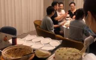 鄭愷低調為苗苗慶生,一個蛋糕8個壽桃,一家人簡單又溫馨