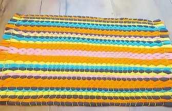 舊衣服舊褲子快速制作編織地毯