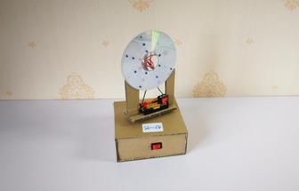 廢光盤DIY桌面閃光燈
