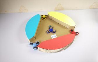 指尖陀螺改造DIY彈珠碰撞機