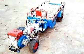 廢物利用制作玩具拖拉機玩做法教學
