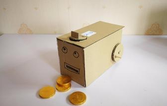 DIY金幣自取機兒童有趣玩具