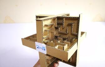 利用廢紙板巧妙自制3維立體迷宮