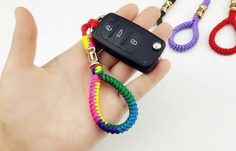 用金剛結編出如此好看的汽車鑰匙扣