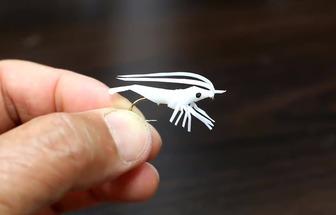 廢吸管編織制作小蝦