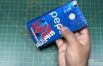 如何用易拉罐制作手機殼