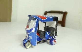 廢可樂罐DIY電動三輪車玩具