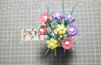 吸管制作的小花花的創意