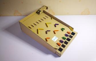 用紙板做桌面彈珠游戲玩具