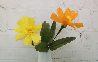 教你用皺紋紙制作蟛蜞菊