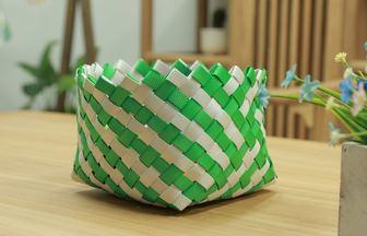 塑料打包帶制作編織收納盒