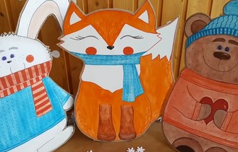 廢紙板做有趣的圣誕玩偶