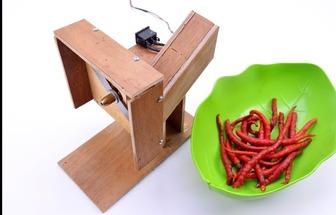如何自制电动切辣椒机器