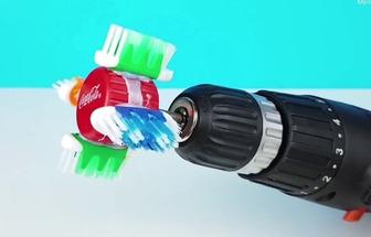 廢牙刷DIY電動清潔刷頭