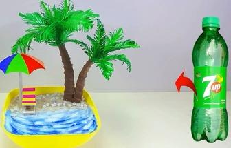 教你利用塑料瓶做一個漂亮的人工沙灘