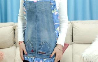 廢舊牛仔褲DIY耐臟耐磨圍裙
