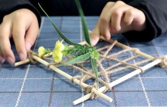 4根筷子能做出一個漂亮的裝飾物