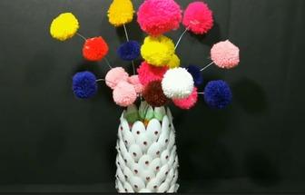 一次性勺子制作漂亮的家居花藝擺件