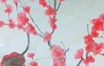怎么用融化蠟燭做出一束臘梅花