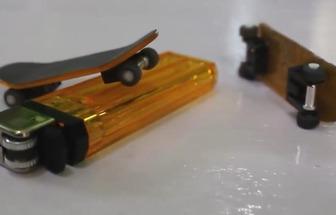 使用一次性打火機制作趣味玩具手指滑板