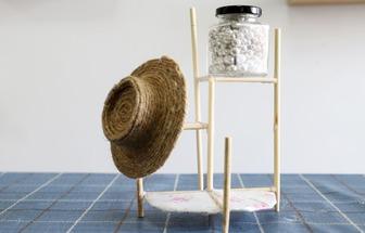 教你用紙板和一次性筷子自制創意置物架