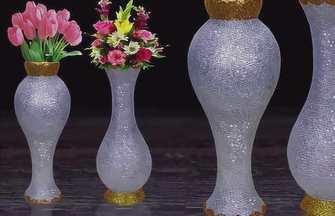 教你用舊報紙和氣球DIY漂亮的花瓶