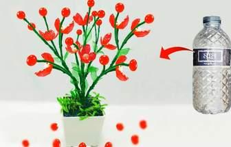 使用礦泉水瓶創意做一盆好看的花藝裝飾