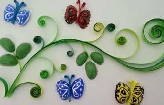 開心果殼教你制作一幅漂亮的蝶戀草裝飾畫