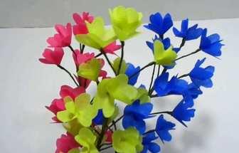 如何用購物袋DIY可愛的花束