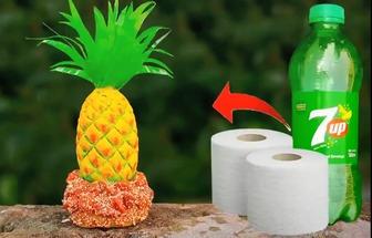 飲料瓶DIY做一個逼真大菠蘿
