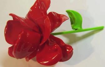 变废成宝用一次性勺子DIY情人节玫瑰