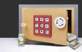 用硬紙板制作帶有密碼的保險箱