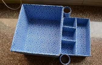 廢舊紙箱動手DIY一個漂亮的桌面收納盒