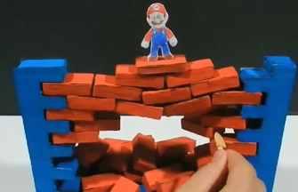 DIY超級馬里奧層層疊積木游戲