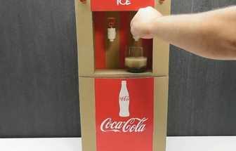 手工DIY制作一款紙板飲水機