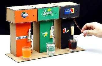 教你用紙板制作三種不同口味的飲料售貨機