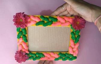 教你用花生殼和紙板DIY一個有趣的相框