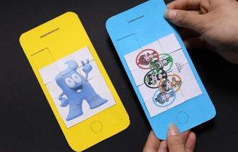 手機拼圖玩具自己就能diy