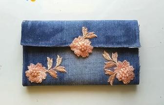 舊牛仔褲制作一個簡單女裝手拎包